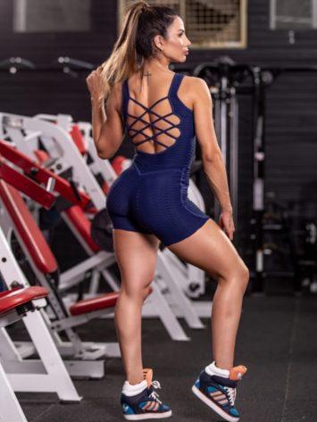 OXYFIT Macaquinho Pretty Short Jumpsuit – Navy