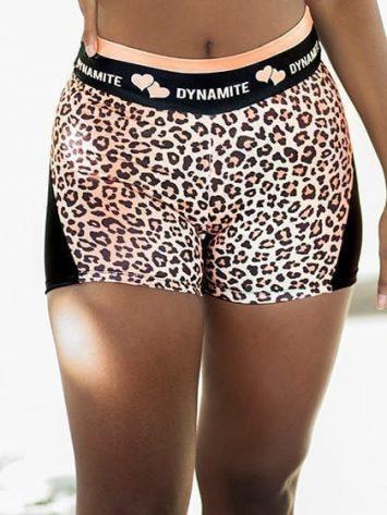 DYNAMITE BRAZIL Shorts Apple Booty Shorts FELINE- Golden Leopard Print