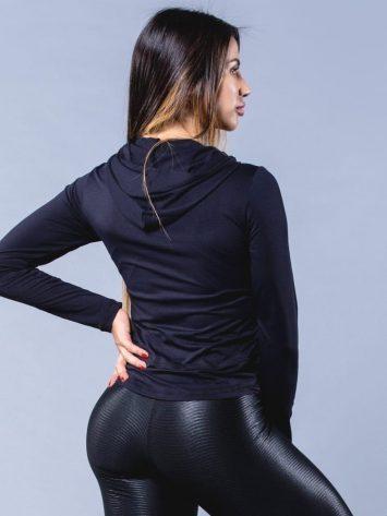 OXYFIT Activewear Jaqueta Brisk- Long Sleeve Hoody – Black