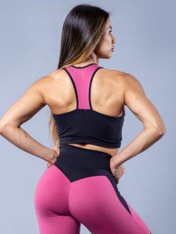 Oxyfit Activewear Sports Bra Top Control – Rosa/Black
