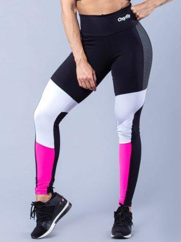 Oxyfit Activewear Leggings Zippy – Black/Grey/White/Pink