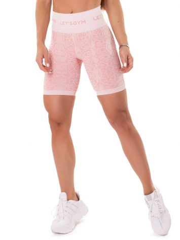 Let's Gym Fitness Seamless Snake Shorts – Coral