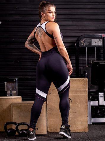 OXYFIT Jumpsuit Line 15246 Black/White/Pink