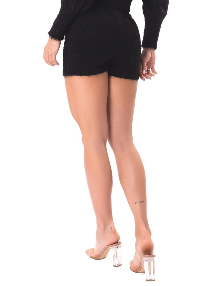 Let's Gym Fitness Trico Angora Shorts - Black