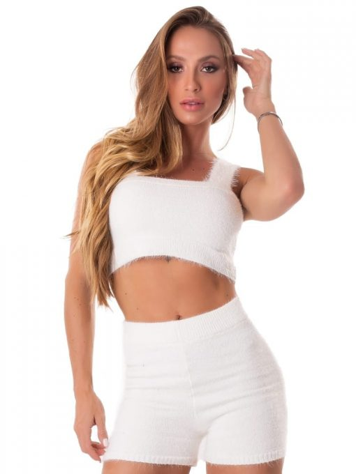 Let's Gym Fitness Trico Angora Top - Off-White
