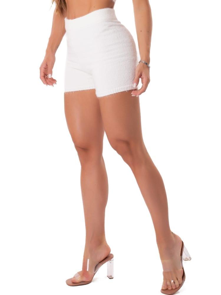 Let's Gym Fitness Trico Angora Shorts - Off-White
