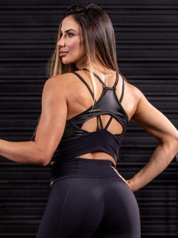 Oxyfit Activewear Sports Bra Top Glow – Black