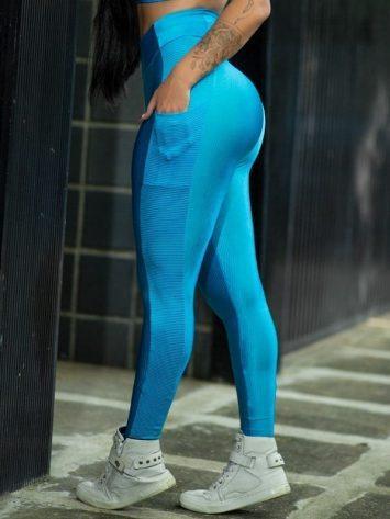 Dynamite Brazil High Waist Garasy Legging – Blue