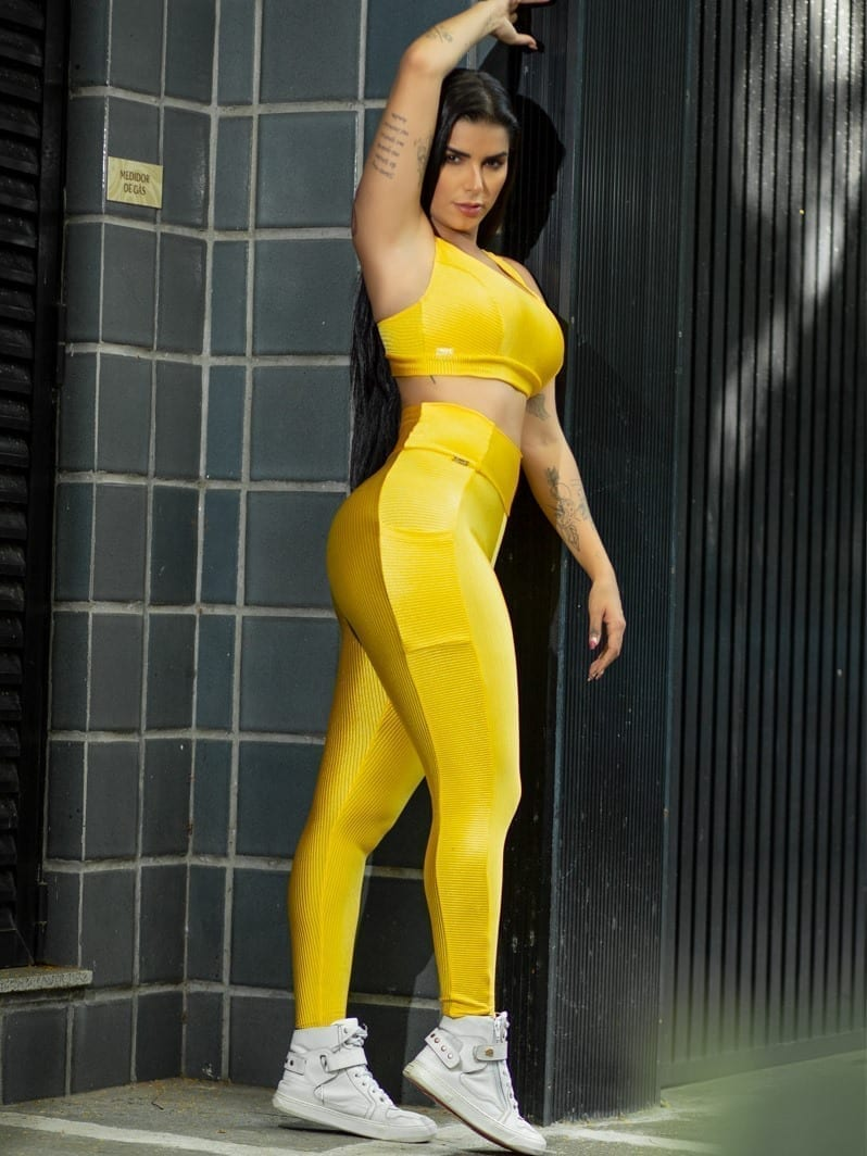 Dynamite Brazil Banka Sports Bra Top - Yellow