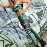 DYNAMITE BRAZIL Leggings Larimar Placebo - Emerald