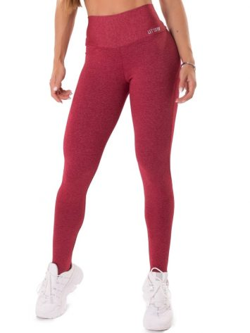 Let's Gym Fitness Move and Slay Leggings – Red