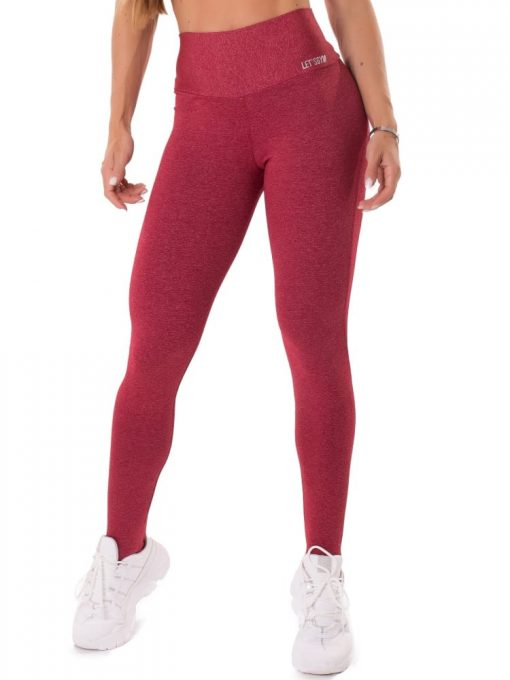 Let's Gym Fitness Move and Slay Leggings - Red