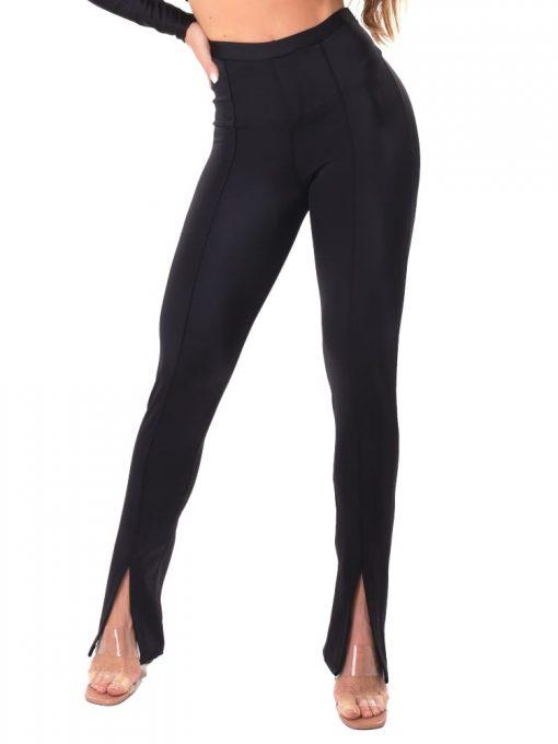 Let's Gym Fitness Slit Ridding Pants - Black