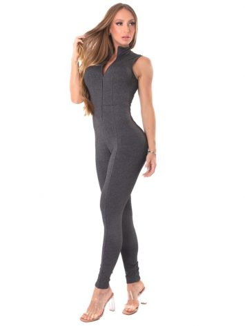 Let's Gym Fitness Move and Slay Jumpsuit – Black