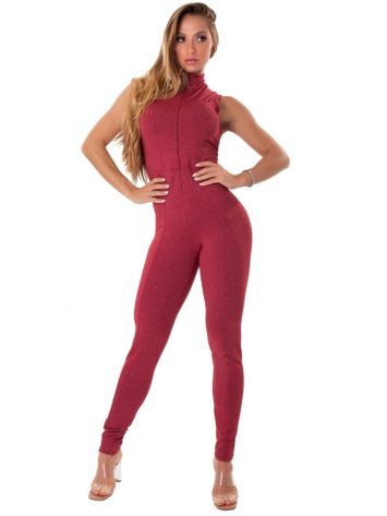Let's Gym Fitness Move and Slay Jumpsuit – Red