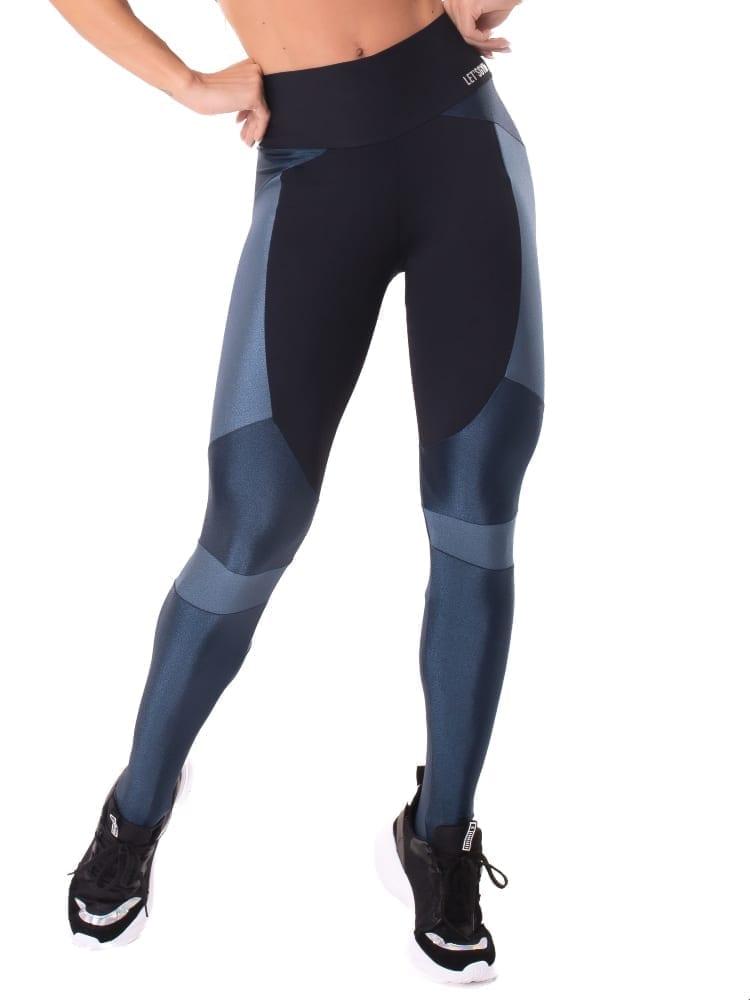 Let's Gym Fitness Magical Leggings - Black/Blue