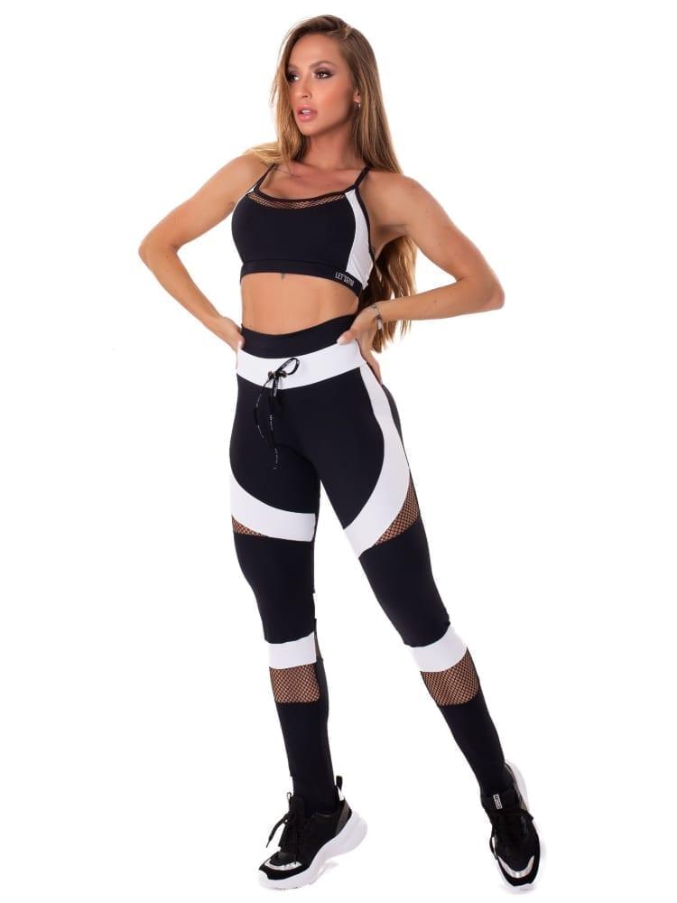 Lets Gym Fitness Intense Woman Sports Bra Top - Black