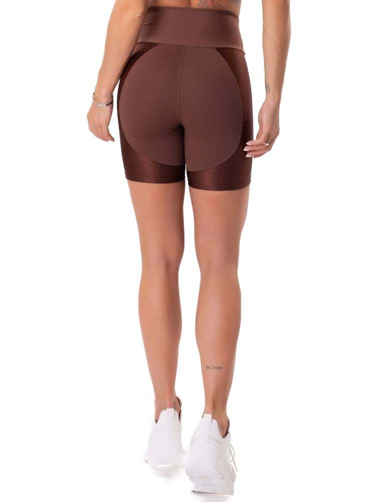 Let's Gym Fitness Gorgeous Shorts - Coffee