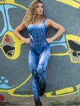 Dynamite Brazil Jumpsuit Macacao - Velvet Blue Jean