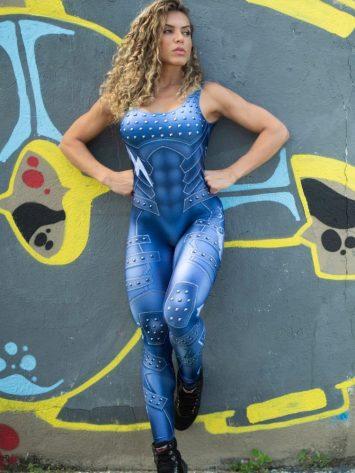 Dynamite Brazil Jumpsuit Macacao – Velvet Blue Jean