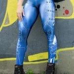 DYNAMITE BRAZIL Leggings Paint-it-black - Velvet Blue