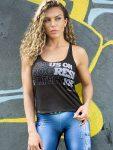 DYNAMITE BRAZIL Tank Top Regatta Progress - Black/Grey