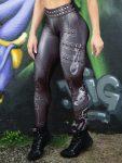 DYNAMITE BRAZIL Leggings Paint-it-black - Black Lightning