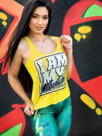 DYNAMITE BRAZIL Tank Top Motivation – Lime
