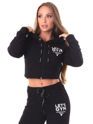 Let's Gym Fitness International Cropped Jacket – Black