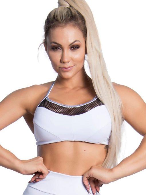 Trincks Fitness Activewear Street Sports Bra Top - white
