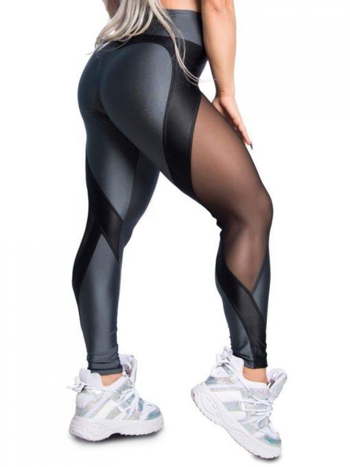 Trincks Fitness Activewear Leggings Sweet Gray - Gray/Black