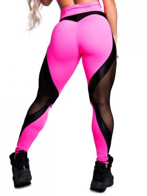 Trincks Fitness Activewear Leggings Sweet Pink - Pink/Black
