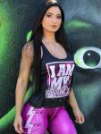 DYNAMITE BRAZIL Tank Top Motivation - Black/Pink