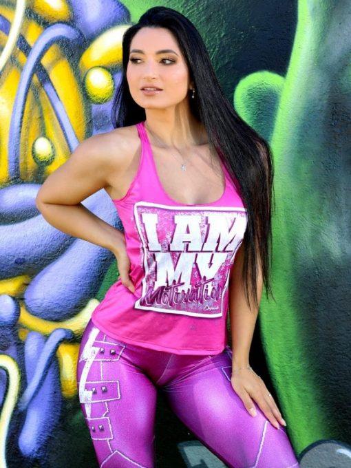 DYNAMITE BRAZIL Tank Top Motivation - Pink