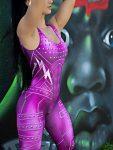 Dynamite Brazil Jumpsuit Macacao - Purple Rain - Purple