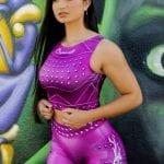 DYNAMITE Brazil Cropped Blouse Purple Rain - Purple