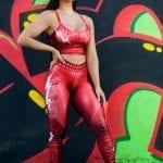 DYNAMITE BRAZIL Leggings Cinnamon Girl - Red