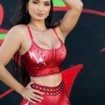 Dynamite Brazil Cinnamon Girl Sports Bra Top - Red