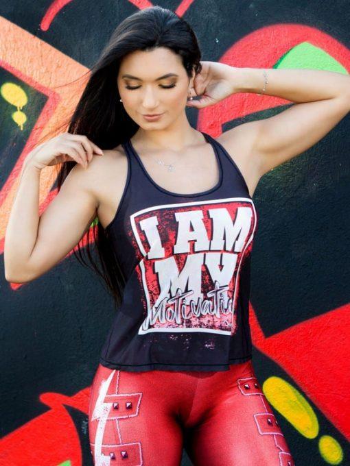 DYNAMITE BRAZIL Tank Top Motivation - Black/Red