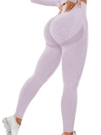 BFB Scrunchie Seamless High Waisted Leggings – Light Purple