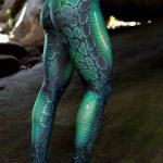 DYNAMITE BRAZIL Leggings Muscles - Green Viper