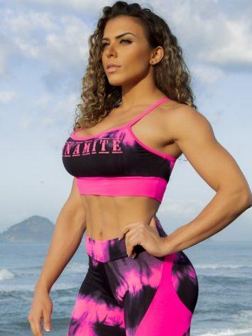 Dynamite Brazil Sports Bra Top Swimmer Top – Marble Pink