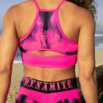 Dynamite Brazil Sports Bra Top Swimmer Top - Marble Pink