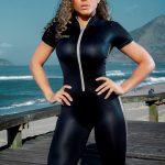 DYNAMITE Jumpsuit Argintus Fitness - Black Silver