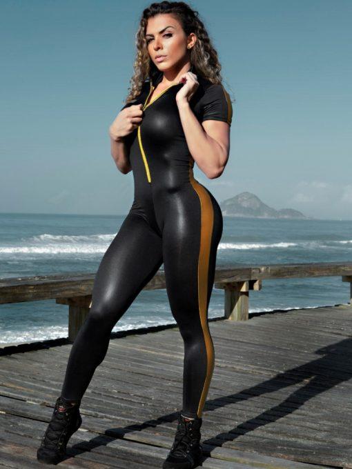 DYNAMITE Jumpsuit Aurous Fitness - Black Gold