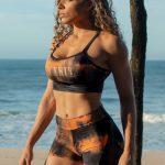 Dynamite Brazil Sports Bra Top Swimmer Top - Marble Coral