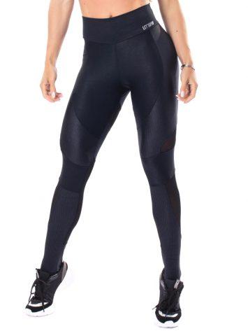 Let's Gym Fitness Lover Leggings – Black