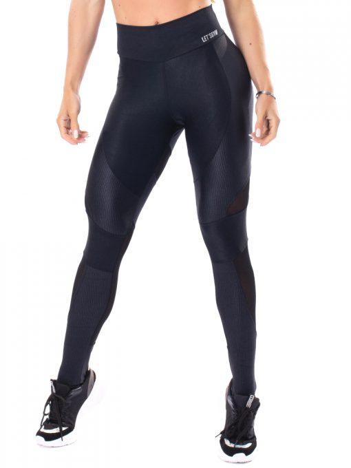 Let's Gym Fitness Lover Leggings - Black