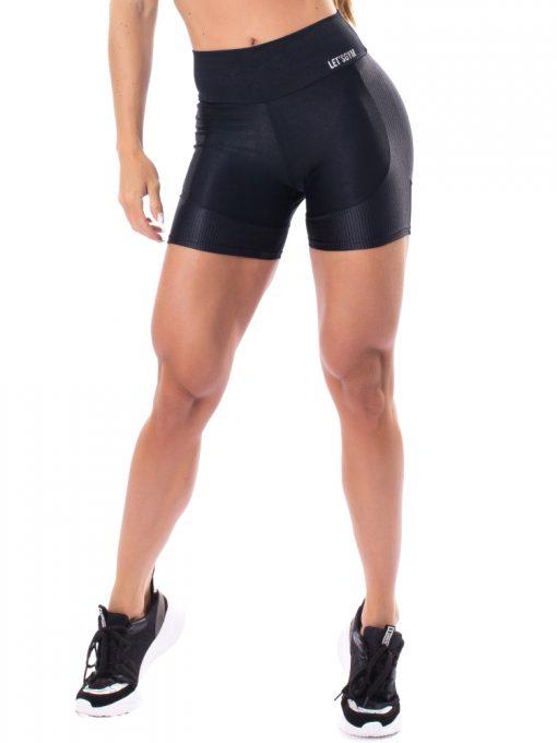 Let's Gym Fitness Lover Shorts - Black