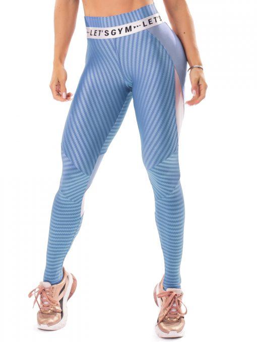 Let's Gym Fitness Winner Leggings - Blue